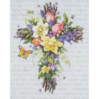 Janlynn Spring Floral Cross Stitch Kit