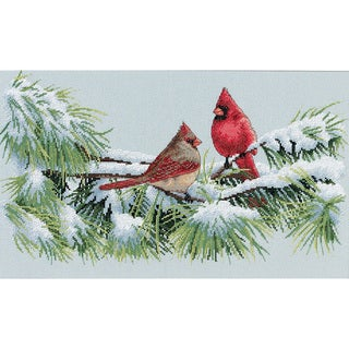 Dimensions Marc Hanson 'Winter Cardinals' Counted Cross-stitch Kit