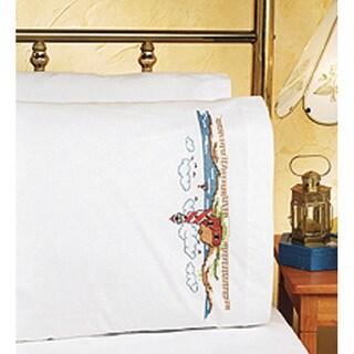 Janlynn Lighthouse Pillowcases Stamped Cross Stitch Kit