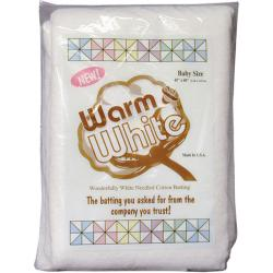 The Warm Company Warm & White Crib Size Cotton Batting
