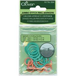 Clover Jumbo Stitch Knitting/Crochet Plastic Marker Rings (Pack of 20)