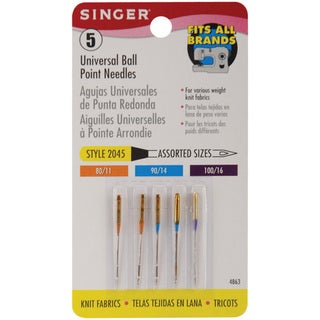 Singer Universal Ballpoint Sewing Machine Needles (Package of Five)