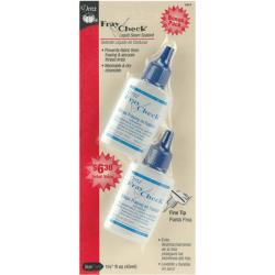 Dritz Fray Check Plastic Liquid Seam Sealant Bottles (Pack of Two)