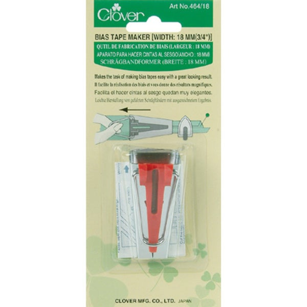 Clover-brand 0.75-inch Metal Bias Tape Maker (Package of One)