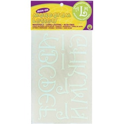 Dritz Soft Flock White 1.75-inch Iron-On Monogram Letters