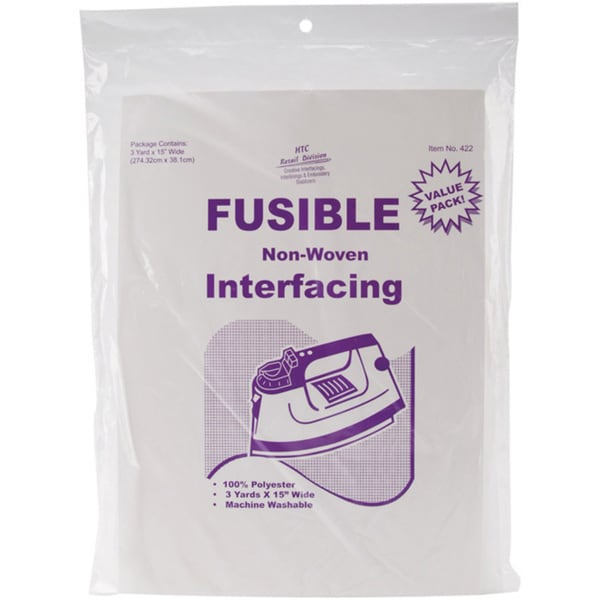 White Polyester Fusible Nonwoven Craft and Sewing Interfacing