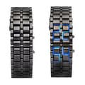 Stainless Steel Lava LED Bracelet Watch with Digital Display