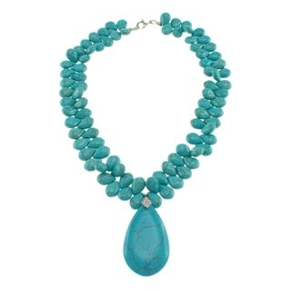 Pearlz Ocean Turquoise-colored Resin 18-inch Necklace