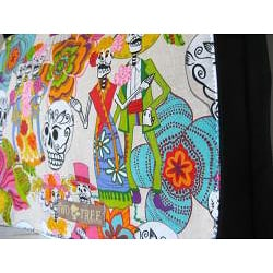 Black Canvas 'Day Of The Dead' Messenger Bag