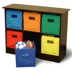 RiverRidge Kids Espresso Finish 6-bin Storage Cabinet