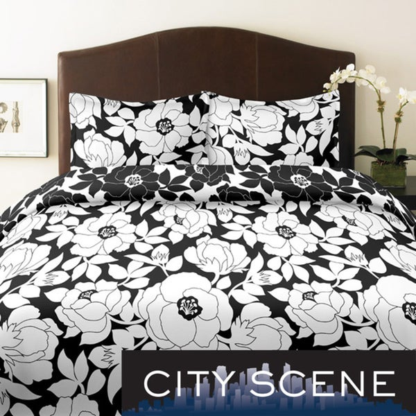 City Scene Mckenzie Floral King-size 3-piece Duvet Cover Set