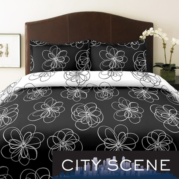 City Scene Luna King-size 3-piece Duvet Cover Set