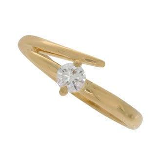 NEXTE Jewelry Gold Overlay Spiraling Cubic Zirconia Ring