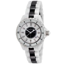 Akribos XXIV Women's Water-Resistant Ceramic Quartz Date Bracelet Watch