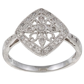 Sterling Silver 1/5ct TDW Diamond Ring (G-H, I1-I2)