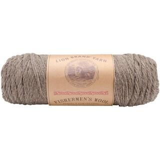 Lion Brand Brown Heather Fishermen's Wool Yarn