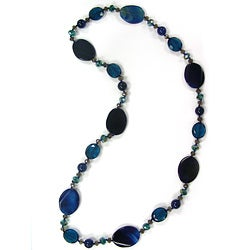 Pearlz Ocean Agate and Glass Fashion Necklace