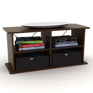 Duo 42-inch TV Stand with two Black Media Bins