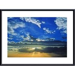 John K. Nakata 'Desert Sunset' Metal Framed Art Print