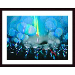John K. Nakata 'Rain Abstract' Wood Framed Art Print