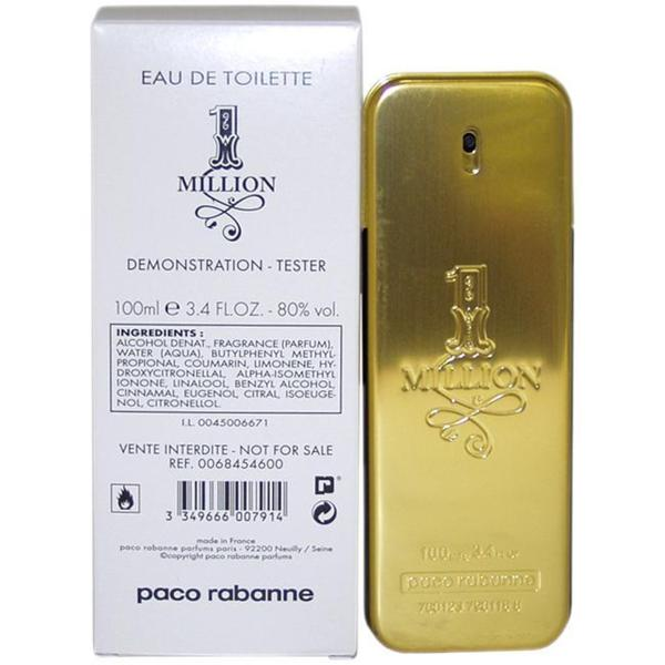 Paco Rabanne '1 Million' Men's 3.4-ounce Eau de Toilette Spray (Tester)