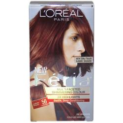 L'Oreal Feria Multi-faceted #56 Auburn Brown Hair Color