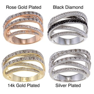 Finesque Overlay 1/4ct TDW Diamond Multi-band Ring (I-J, I2-I3)