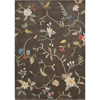 Nourison Hand-tufted Contours Brown Rug (7'3 x 9'3)