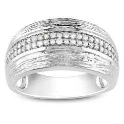 M by Miadora Sterling Silver 1/4ct TDW White Diamond Ring (G-H, I2-I3)