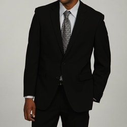 Kenneth Cole Men's Slim Fit Solid Black Suit