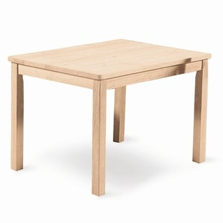 Mission Natural Parawood Children's Table - Unfinished
