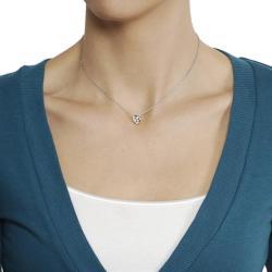 Silvertone Round-cut Cubic Zirconia Necklace