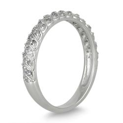 10k White Gold 1/4ct TDW Diamond Wedding Band (I-J, I1-I2)
