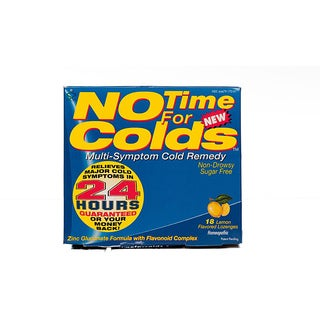 No Time For Colds 18 Lemon Lozenges (Pack of 4)