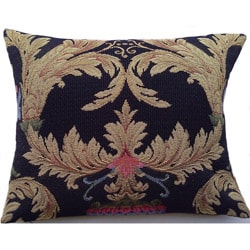 Corona Decor Italian-woven Floral and Leaf Decorative Pillow