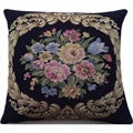 Corona Decor Italian-woven Floral Decorative Pillow
