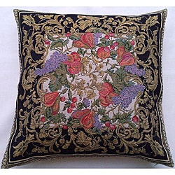 Corona Decor Italian-woven Harvest Decorative Pillow