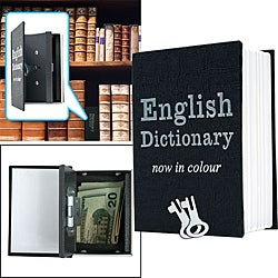 Mini Dictionary Metal Diversion Book Safe with Key Lock