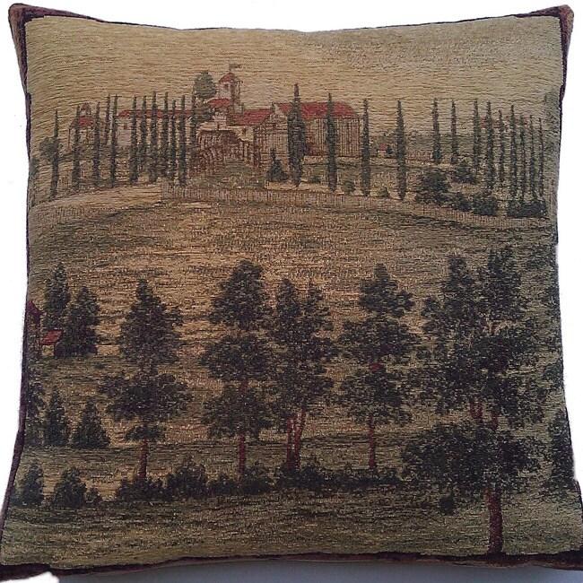 Corona Decor Belgium Woven Old World Square Decorative Pillow