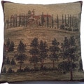 Corona Decor Belgium Woven Old World Square Decorative Pillow