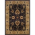 Black/Beige Area Rug (6'7 x 9'6)