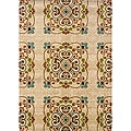 Gold/ Beige Transitional Area Rug (5' x 7'6)