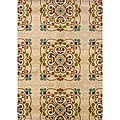 Gold/ Beige Transitional Area Rug (3'10 x 5'5)