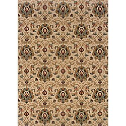 Berkley Beige/ Gold Traditional Area Rug (7'8 x 10'10)