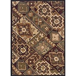 Messina Black/ Purple Area Rug (7'8 x 10'10)