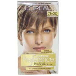 L'Oreal Superior Preference Fade-Defying Color #7.5A Medium Ash Blonde Hair Color