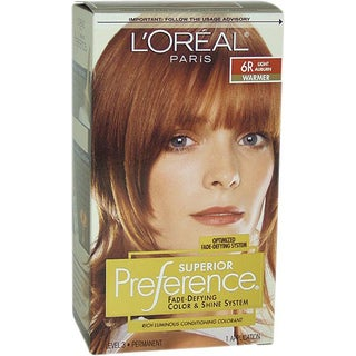 L'Oreal Superior Preference Fade-Defying # 6R Light Auburn - Warmer Hair Color