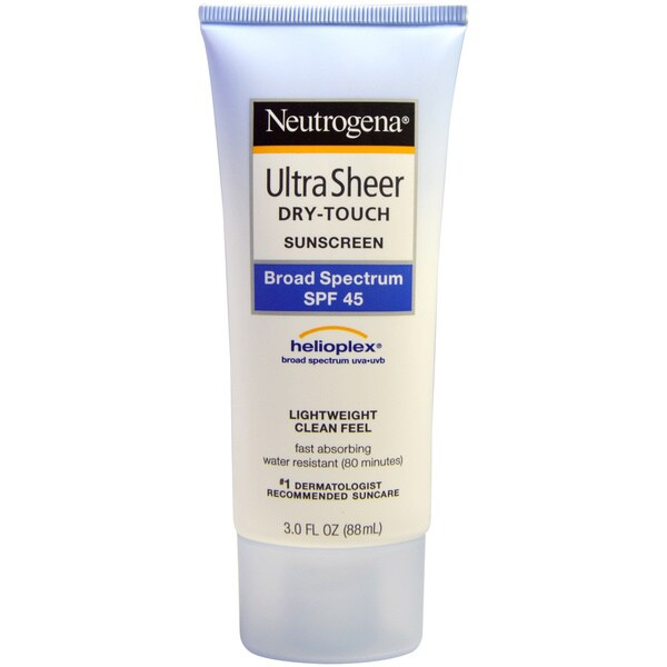 Neutrogena Ultra Sheer Dry Touch SPF 45 3-ounce Sunblock