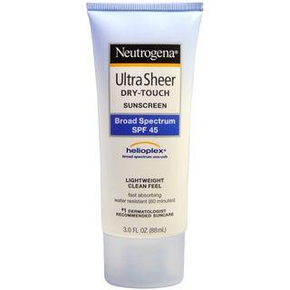 Neutrogena Ultra Sheer Dry Touch SPF 45 3-ounce Sunblock