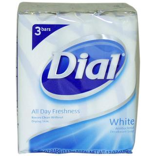 Dial 4-ounce White Antibacterial Deodorant Soap (Pack of 3)